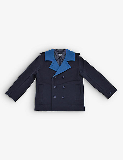 KIDSWEAR COLLECTIVE: Pre-loved Dior wool-blend pea coat 8 years