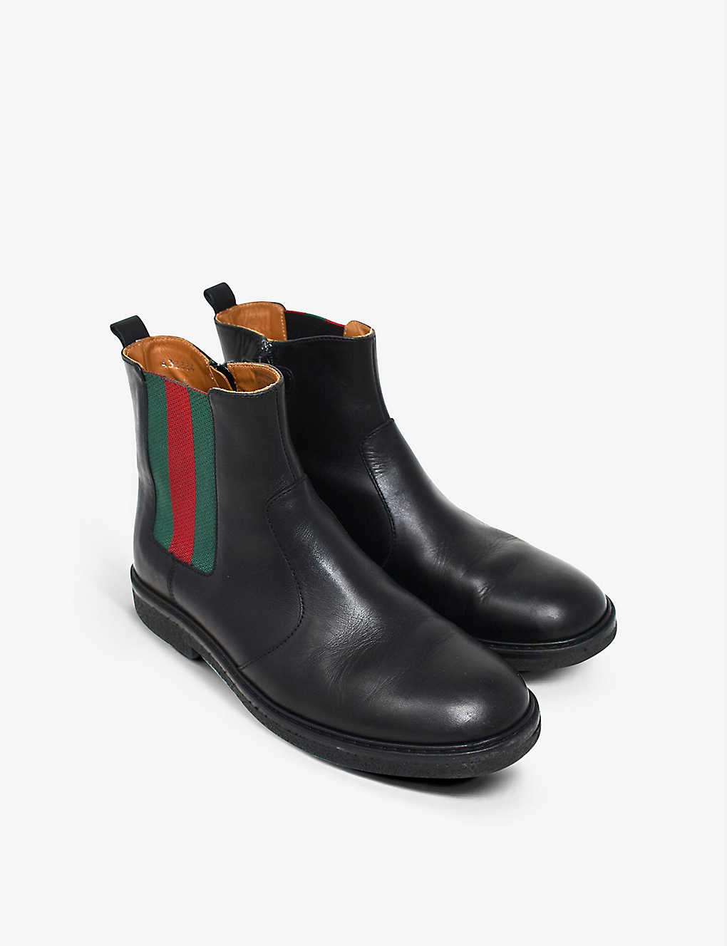 KIDSWEAR COLLECTIVE: Pre-loved Gucci leather Chelsea boots