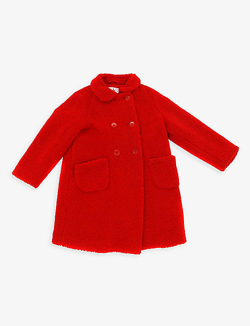 KIDSWEAR COLLECTIVE: Pre-loved Il Gufo double-breasted woven coat 8 years
