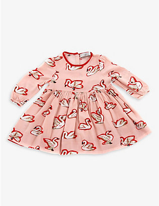 KIDSWEAR COLLECTIVE: Pre-loved Stella McCartney swan-print dress with bloomers 9-12 months