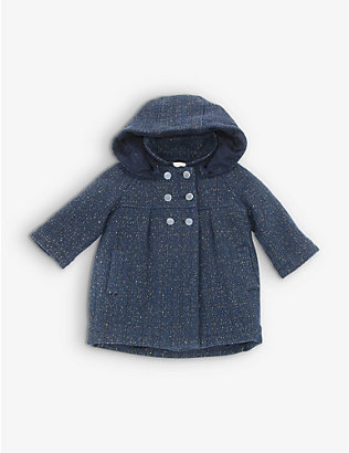 KIDSWEAR COLLECTIVE: Pre-loved Chloe gold-thread hooded coat 9-12 months