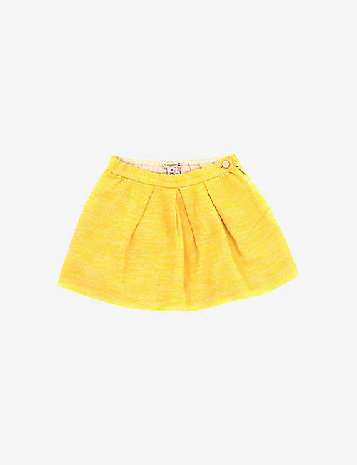 KIDSWEAR COLLECTIVE: Pre-loved Bonpoint textured cotton and silk skirt 8 years