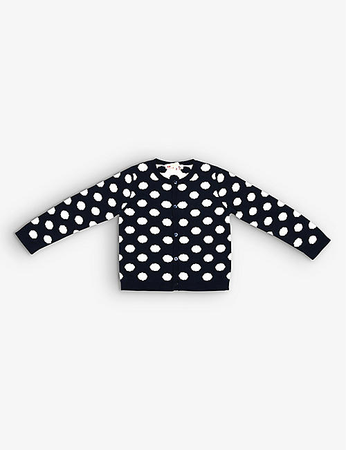 KIDSWEAR COLLECTIVE: Pre-loved Bonpoint cotton polka-dot cardigan 3-6 months