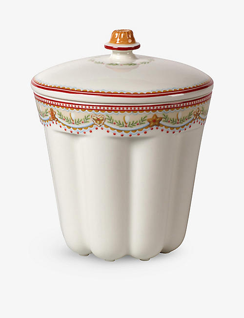 VILLEROY & BOCH: Winter Bakery Delights porcelain bundt cake jar 16cm