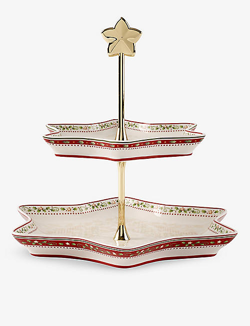 VILLEROY & BOCH: Winter Bakery Delight porcelain holly cake stand