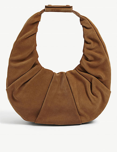 STAUD: Moon large leather shoulder bag
