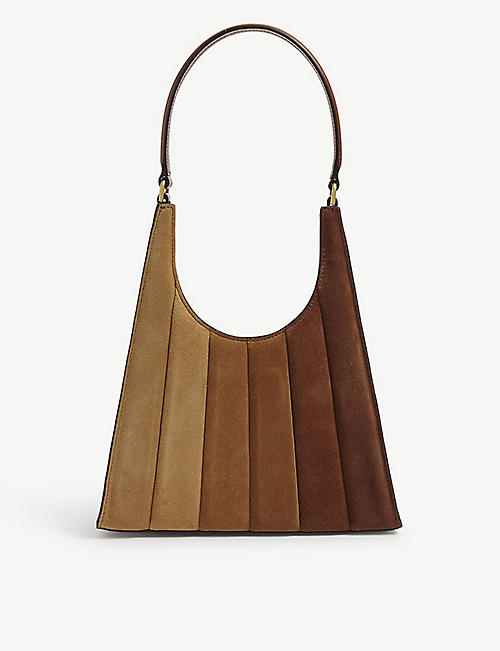 STAUD: Rey quilted leather shoulder bag