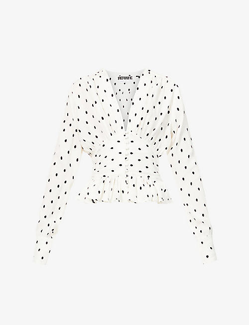 ROTATE BIRGER CHRISTENSEN: Tracy polka-dot woven top