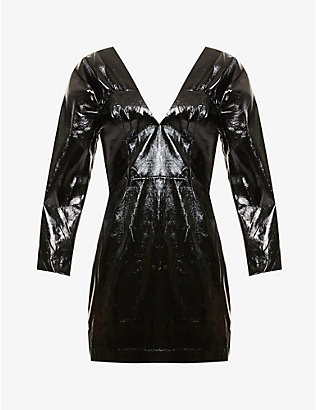 ROTATE BIRGER CHRISTENSEN: Clara patent faux-leather mini dress