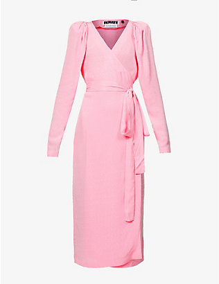 ROTATE BIRGER CHRISTENSEN: Bridget wrap-over jacquard midi dress