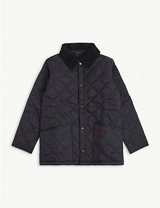 BARBOUR: Liddesdale quilted shell jacket 6-13 years