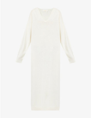 REMAIN BIRGER CHRISTENSEN: Beni V-neck wool maxi dress