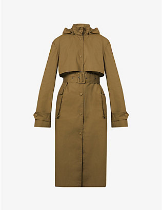 REMAIN BIRGER CHRISTENSEN: Corinne hooded organic-cotton trench coat
