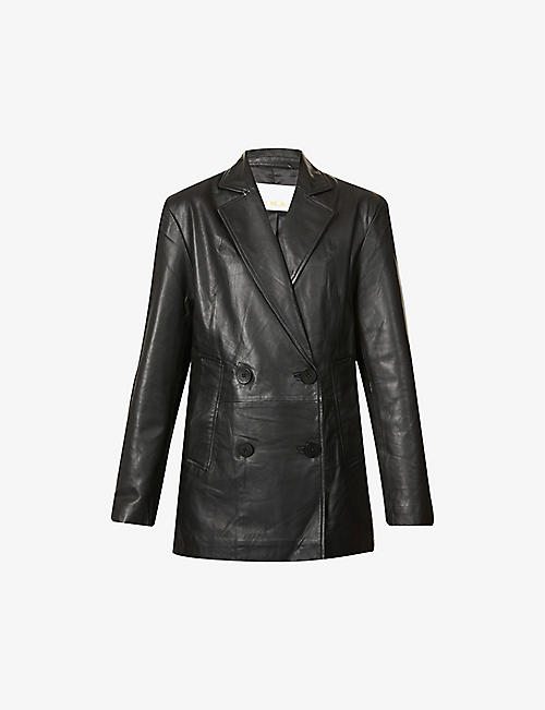 REMAIN BIRGER CHRISTENSEN: Debbie double-breasted leather blazer
