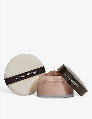 LAURA MERCIER: Set To Perfect translucent loose setting powder and puff set 29g