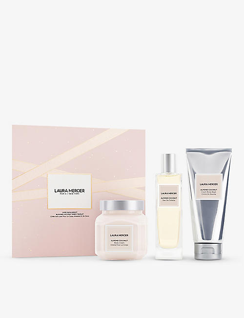 LAURA MERCIER: Luxe Indulgence Almond Coconut Body Triplet gift set
