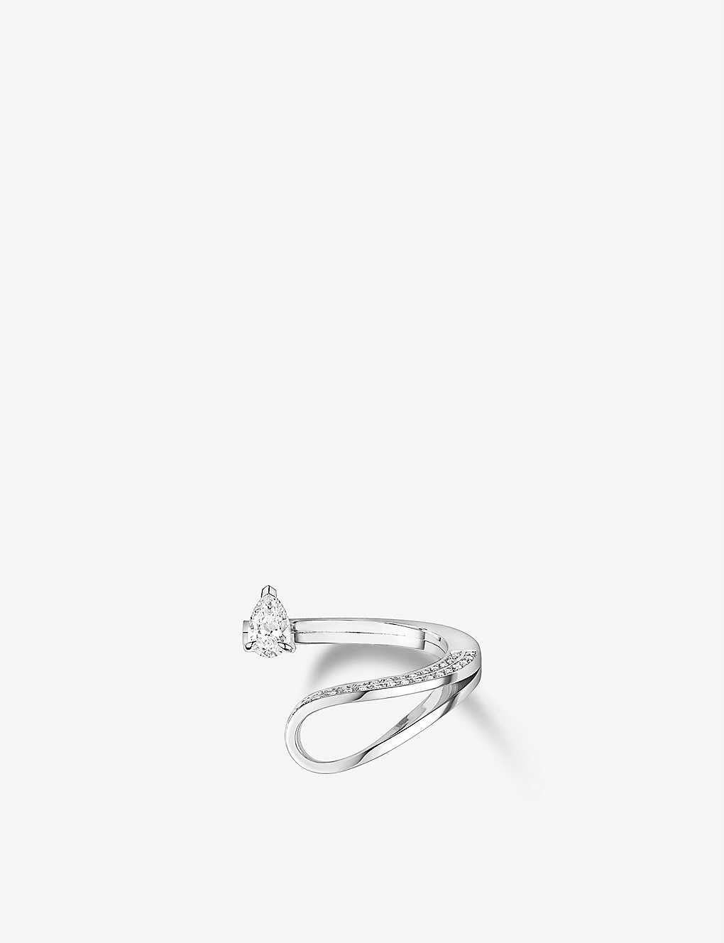 REPOSSI: Serti Inversé 18ct white gold and 0.52ct diamond ring