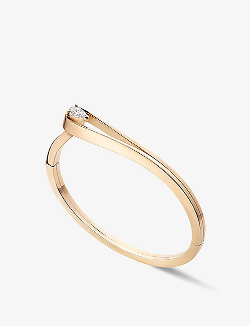 REPOSSI: Serti Inversé 18ct rose gold and 0.5ct diamond bracelet