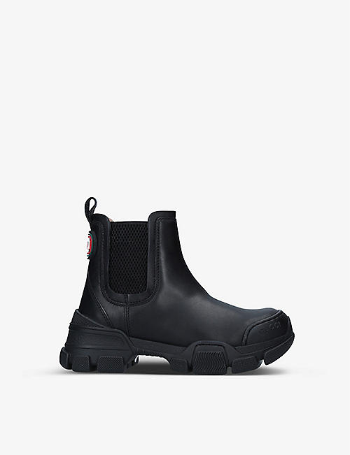 GUCCI: Leon leather Chelsea boots 5-8 years