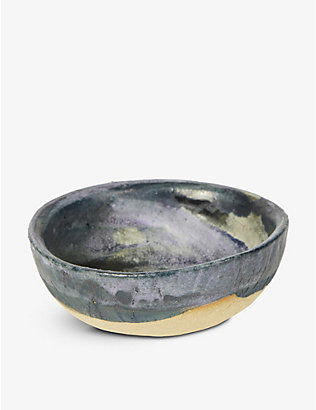 KANA LONDON: Pavilion glazed stoneware dip bowl 11cm