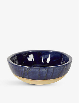 KANA LONDON: Midnight Blue glazed stoneware bowl 15cm