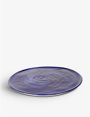 KANA LONDON: Klein Blue glazed stoneware plate 23cm