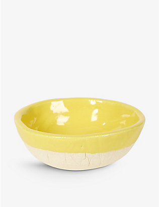 KANA LONDON: Sun glazed stoneware bowl 14cm
