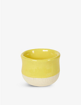 KANA LONDON: Sun glazed stoneware cup 7cm
