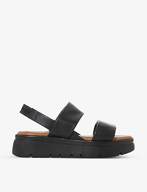 BERTIE: Larsen leather platform sandals