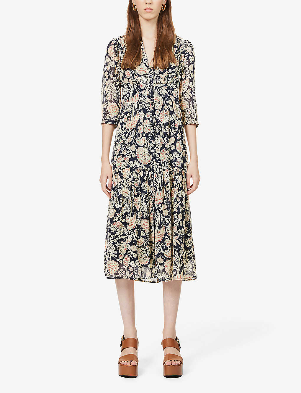 BA&SH: Aline floral-print woven midi dress