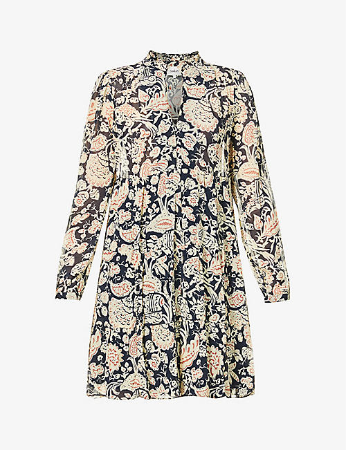 BA&SH: Azur floral-print crepe mini dress