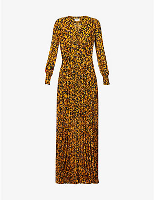BA&SH: Lisi abstract graphic-print crepe maxi dress