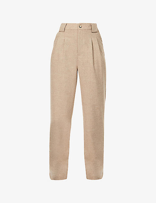 BA&SH: Firenze slim-fit mid-rise woven trousers