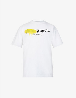 PALM ANGELS: Branded graphic-print cotton-jersey T-shirt
