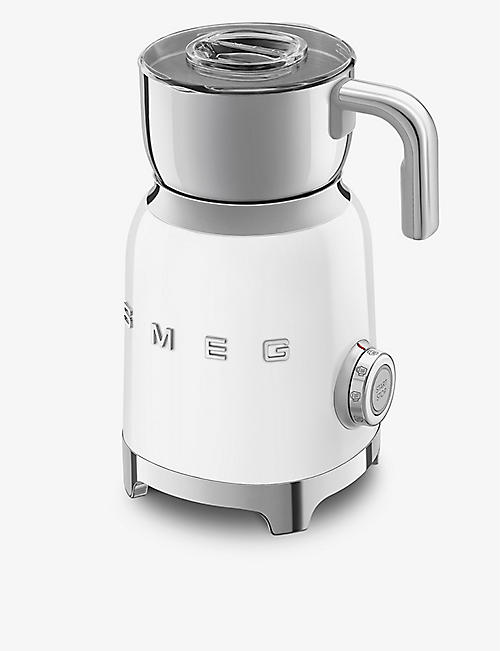 SMEG: MFF01 logo stainless steel milk frother