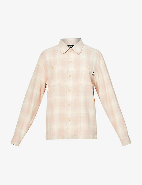 STUSSY: Beach checked cotton shirt