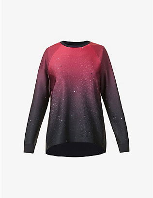 ULTRACOR: Galaxia Capella crystal-embellished stretch-jersey top