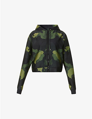 ULTRACOR: Camo zip-up stretch-jersey hoody