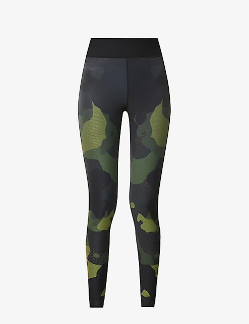 ULTRACOR: Mesh Camo high-rise stretch-jersey leggings