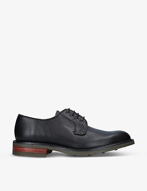 BARKER: Berry leather brogues
