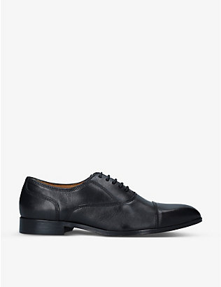 BARKER: Corso leather Oxford shoes