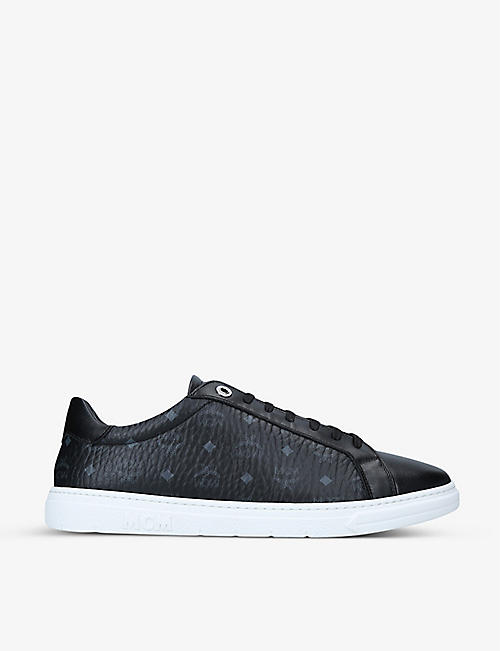 MCM: Terrain Visetos logo-print leather trainers