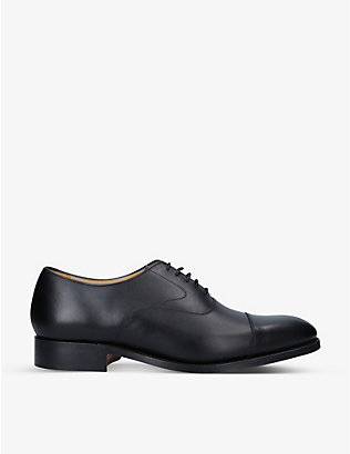 BARKER: Malvern leather Oxford shoes