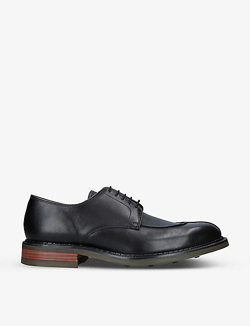 BARKER: Milbury lace-up leather derby shoes