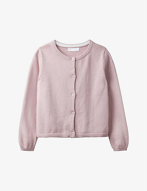 THE LITTLE WHITE COMPANY: Cropped cotton-blend cardigan 1-6 years