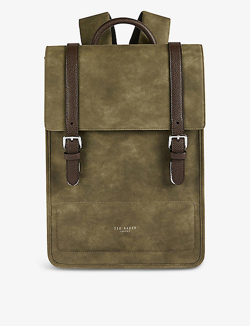 TED BAKER: Hiway logo-embossed woven backpack