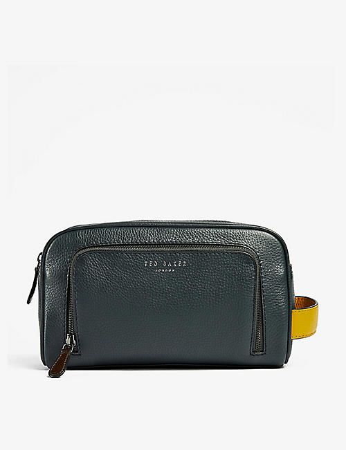 TED BAKER: Clings leather washbag