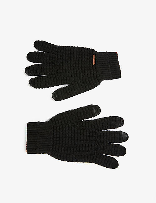 TED BAKER: Textured knitted gloves
