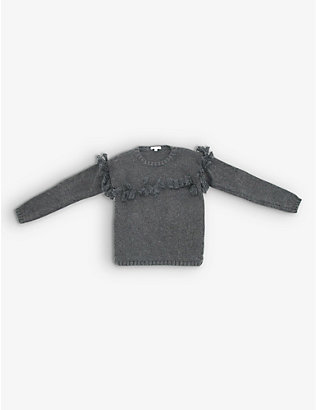 KIDSWEAR COLLECTIVE: Chloe wool-blend knitted tassel jumper 8 years
