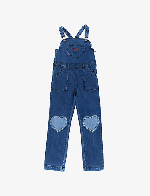 KIDSWEAR COLLECTIVE: Pre-loved Stella McCartney heart-detail denim dungarees 8 years